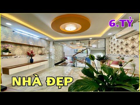 Bán nhà Gò Vấp 885   Nhà phố 4m x 16m 3.5 lầu nội thất đẹp gần chợ giá chỉ hơn 6 tỷ ở Gò Vấp
