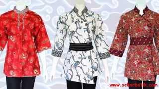 baju batik wanita modern model terbaru