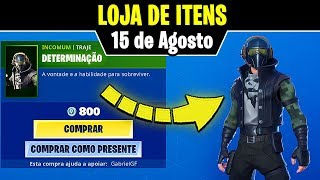 ITEM STORE * NEW * SKIN DETERMINATION (August 15th)-Fortnite Battle Royale