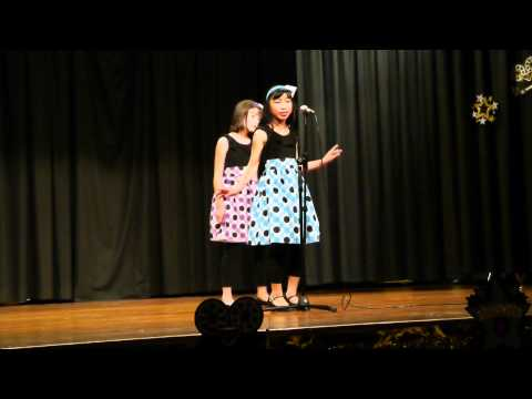 Sophia (10) and Payton (10) duet at Dublin El School Talent Show, March 2012