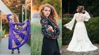 Вышитые платья - обзор трёх работ с вышивкой гладью и ришелье