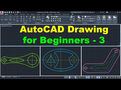 AutoCAD Drawing Tutorial For Beginners - 3