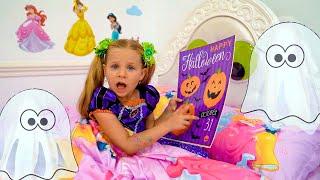 डायना हैलोवीन पार्टी के लिए तैयार हो रही है