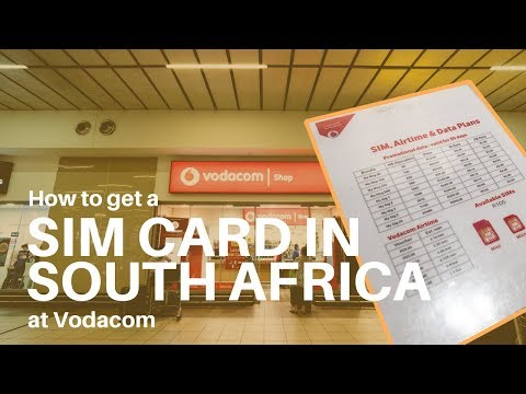 How to Get A SIM Card In South Africa with Vodacom Mp3
