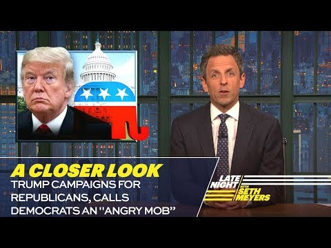 Trump Campaigns for Republicans, Calls Democrats an Angry Mob: A Closer Look