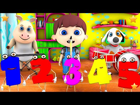 Numbers Song  Kindergarten Nursery Rhymes & Songs for Kids  Little Treehouse S03E98