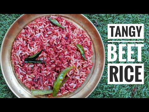 Tangy Beet root rice- (Sweet and sour delicious recipe with beets and Amla)