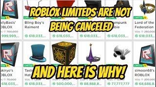 ROBLOX LIMITEDS SIND NICHT CANCELED! HERES WARUM!!