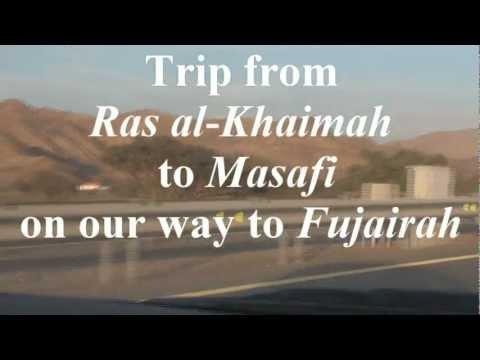 UAE Mountain roads from Ras Al Khaimah to Fujairah
