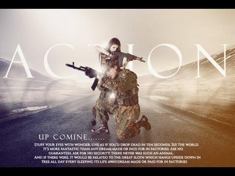 Action movie poster design in photoshop cc tutorial 2017