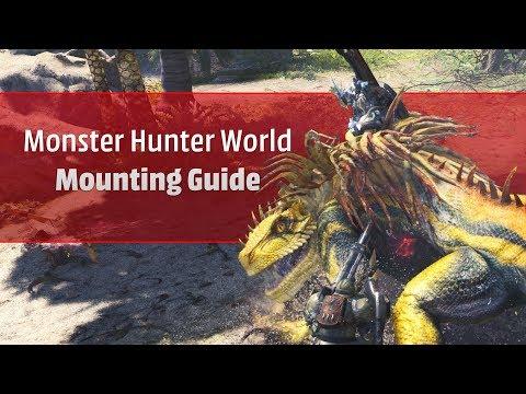 Wie mounte ich in Monster Hunter: World?