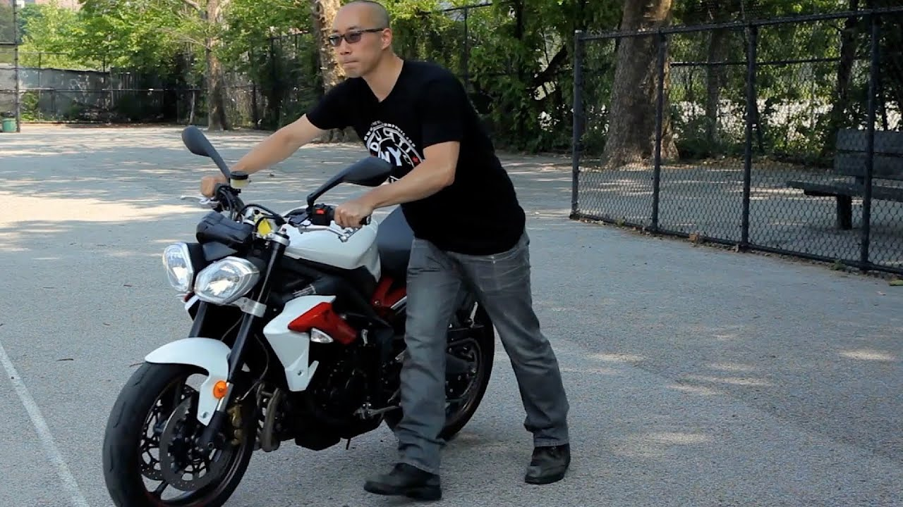 How to Push a Motorcycle   Motorcycle Riding