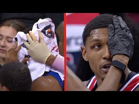 Bradley Beal & Tyrone Wallace Nasty Head Collision - Injury | Clippers vs Wizards | Nov 20, 2018