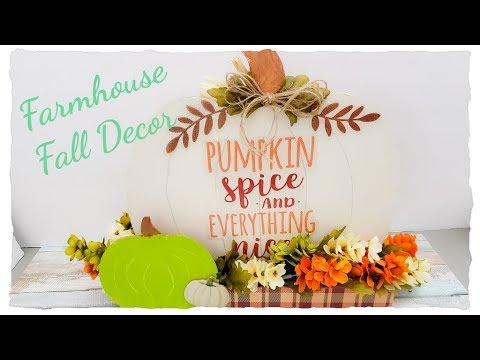 🍁FALL DECOR DIY🌻 DOLLAR TREE ITEMS🎃FARMHOUSE FALL DECOR