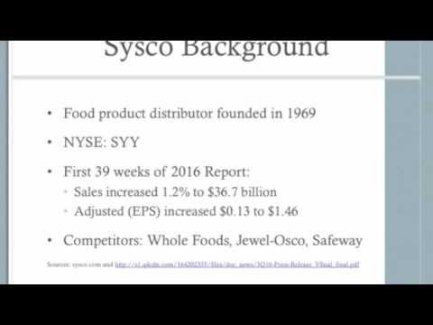 Value Line Sysco Part 1