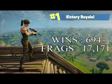 [FR/PC/LIVE] Fortnite  en solo 694 wins /  lvl 75  / 100