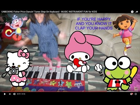 Dancing Mat UNBOXING Fisher Price Dancin' Tunes Step-On Keyboard - MUSIC INSTRUMENT FUN for KIDS