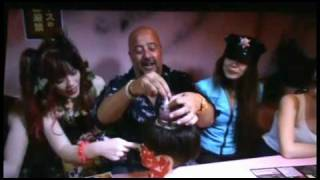 Andrew Zimmern Bizarre Foods Tokyo: La Carmina & weird Japan jail theme restaurant, Travel Channel