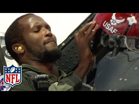Champ Bailey Flies with U.S. Air Force Thunderbirds (2012) | NFL