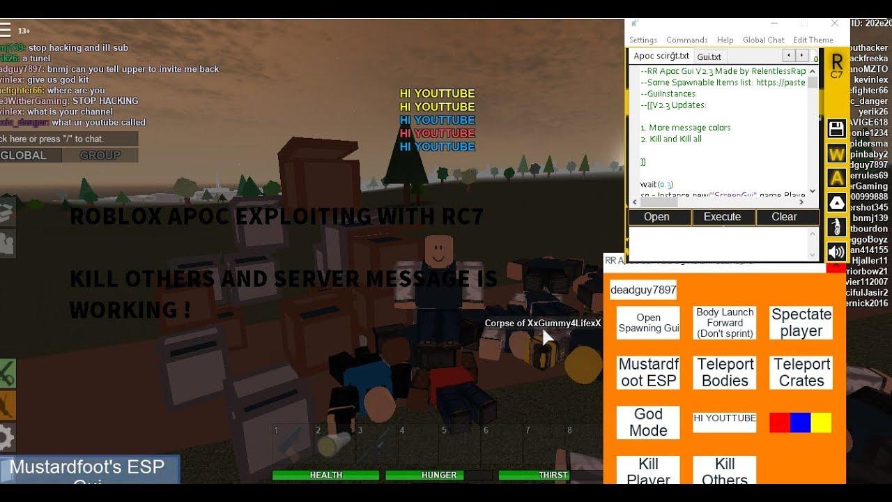 Roblox Apocalypse Rising NEW GUI (Kill others,Server ...