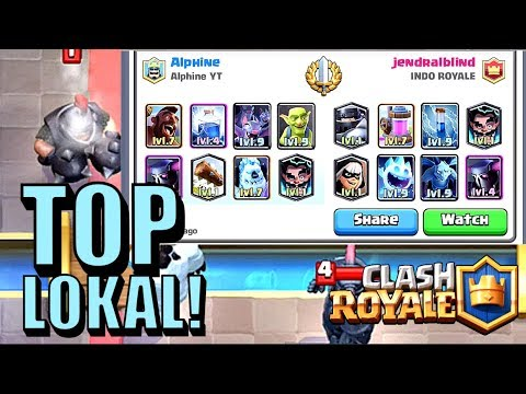 FACEOFF DGN PLAYER TOP LOKAL INDONESIA! ALPHINE VS JENDRALBLIND • Clash Royale Indonesia - 동영상