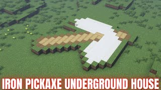 Minecraft : How t๐ build simple survival house in minecraft| Underground Pickaxe House tutorial