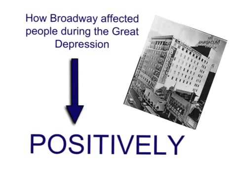 Great Depression VL: Musicals and Plays