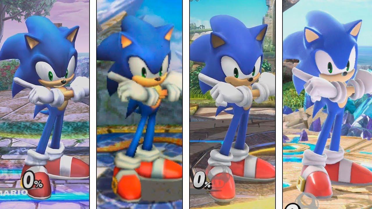 Super Smash Bros Ultimate Sonic Evolution 2008 2018