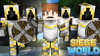 Minecraft: SIEGE WORLD - Warzone Raids! S1E3 (Timber, Armory Upgrades, Attack on Team Dark!)