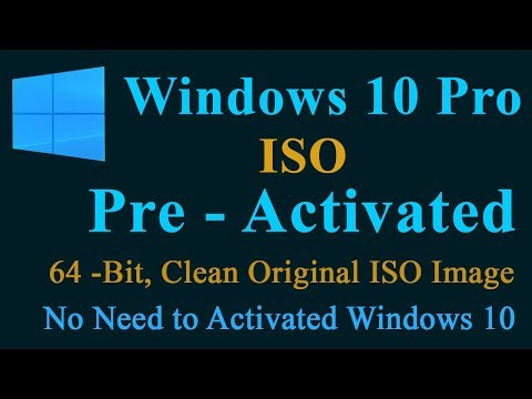 Windows 10 Pro ISO Image File  Pre- Activated. 100% Activated No Need To Activate By Blackworld.