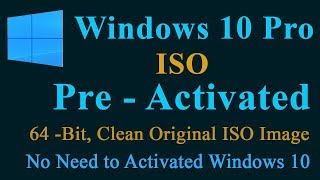 win 10 pro preactivated iso