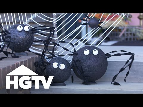 DIY Stick Spider Web - HGTV