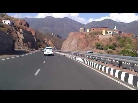 Glimpse of the Pinjore - Kalka - Parwanoo byepass road.