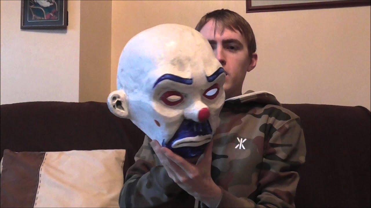 sc 1 st  YouTube & The Dark Knight Joker Bank Robber Heist Bozo Mask - YouTube