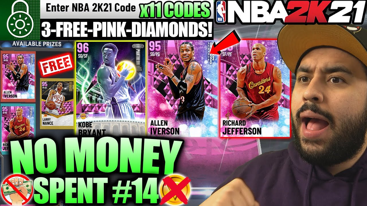 NBA 2K21 NO MONEY SPENT #14 - PINK DIAMOND LOCKER CODES AND GOT RARE FREE PINK DIAMONDS IN MYTEAM