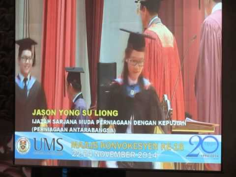 Universiti Malaysia Sabah 16th Convocation Ceremony  First Class Degree  With Honour  First Class Degree