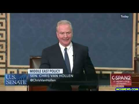 "Sen Van Hollen ""Laws To Punish American Citizens Who Protest The Settlement Policies Of Netanyahu"""