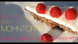 Rohkost Dessert Rezept Torte: Rohtopias Mohntorte - poppyseed cake yumyum! Vegane Desserts