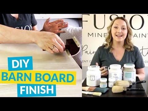 Painting Technique - DIY Barn Board Finish
