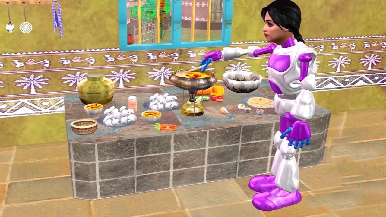 जादुई रोबोट मम्मी Magical Robot Maa Comedy Video Hindi Kahaniya हिंदी कहानियां Funny Comedy Video