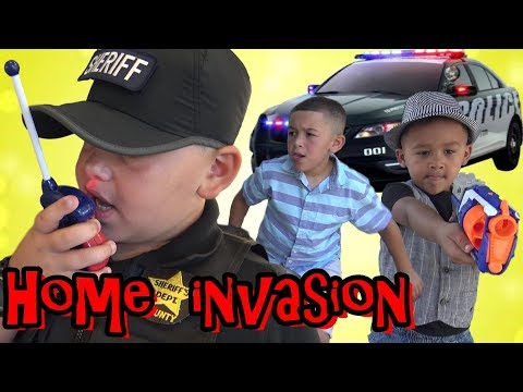 Thumbnail: COPS AND ROBBERS - SHOTS FIRED !!! HOME INVASION ALARM - GTA POLICE CHASE !!! COP KIDS PATROL