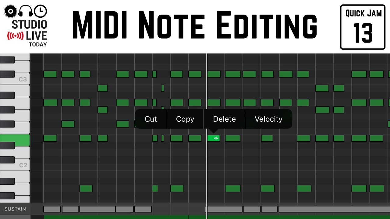 How to edit MIDI notes in GarageBand iOS (iPhone/iPad)