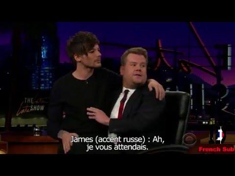 Niall Horan fait James Bond feat  Louis le chat - One direction chez James Corden VOSTFR Traduction