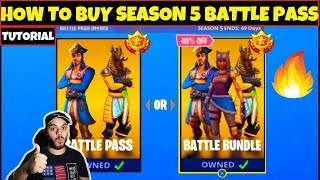 🔥Buying Fortnite SEASON 5 BATTLE PASS 🔥TONS OF SKINS | HINDI 🔥