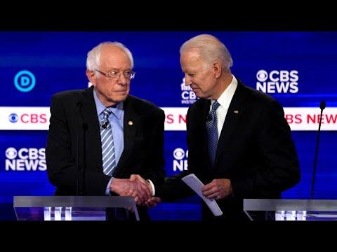 Primaires de'mocrates : premier duel entre Joe Biden et Bernie Sanders Couronne' dans plusieurs tats la semaine dernire lors du .Super Tuesday., Joe Biden veut s'imposer de nouveau, mardi, sur son rival Bernie Sanders., From YouTubeVideos