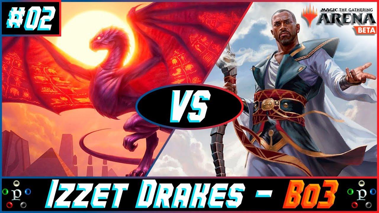 Standard MTG Arena Bo3 Gameplay - Izzet Drakes vs  Esper Control