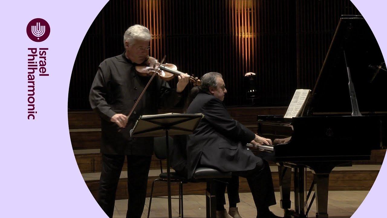 שוברט: סונטה ב-לה מג'ור D.574 - יפים ברונפמן ופנחס צוקרמן - מתוך ערב סונטות בחגיגות ה-80 לתזמורת