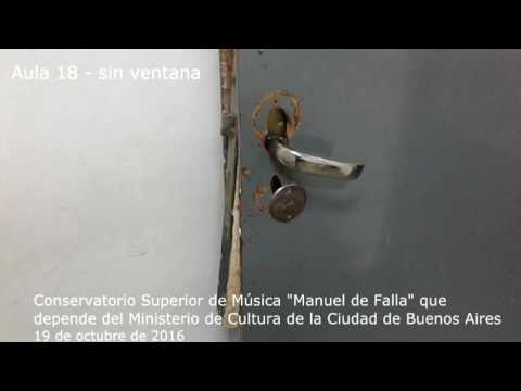 Estado crítico del edificio donde funciona el Conservatorio Manuel de Falla - 19 de octubre de 2016