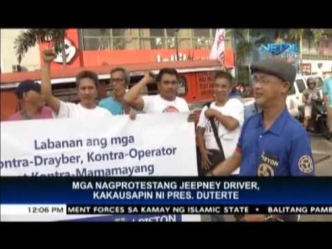 President Duterte willing to talk to jeepney drivers, operators who joined transport strike