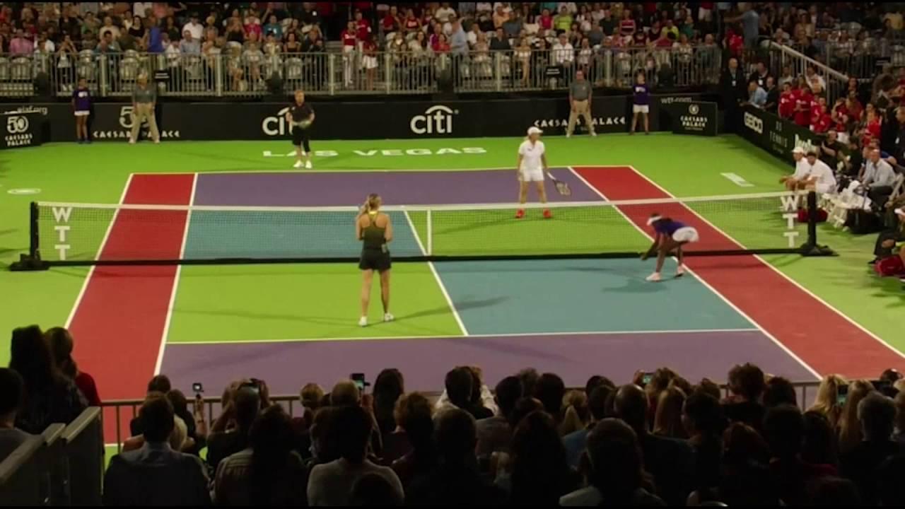 Must Watch Sharapova Returns To Court To Face Elton John Youtube